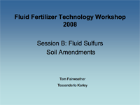 Fluid Sulfurs Soil Amendments