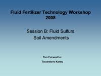 Fluid Sulfurs Soil Amendments