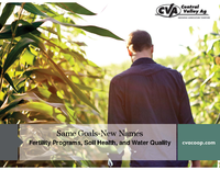 Same Goals-New Names: Fertility Programs, Soil Health, and Water Quality