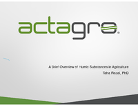 A Brief Overview of Humic Substances in Agriculture