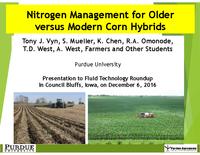 Nitrogen Management for Older Versus Modern Corn Hybrids