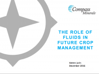 The Role of Fluids in Future Crop Management