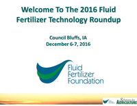 2016 Fluid Fertilizer Technology Roundup Introduction