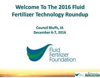 2016 Fluid Fertilizer Technology Roundup Introduction