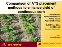 Comparison of ATS Placement Methods to Enhance Yield of Continuous Corn