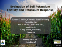 Evaluation of Soil Potassium: Fertility and Potassium Response