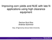 Improving Corn Yields and NUE With Late N Applications Using High Clearance Equipment