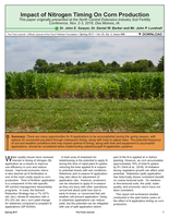 Impact of Nitrogen Timing On Corn Production