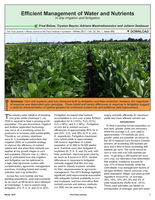 Efficient Management of Water and Nutrients