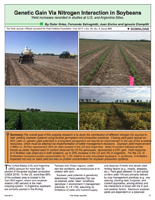 Genetic Gain Via Nitrogen Interaction in Soybeans