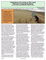 Importance of Liming in Dry Land Palouse Cropping Systems