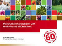 Micronutrient Compatibility With Pesticides and NPK Fertilizers