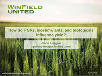 How Do PGRs, Biostimulants, and Biologicals Influence Yield?