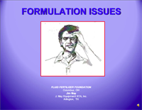 Formulation Issues