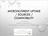 Micronutrient Uptake/Sources/Compatibility
