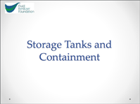 Storage Tanks and Containment