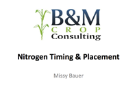 Nitrogen Timing & Placement