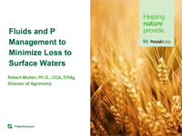 Fluids and P Management to Minimize Loss to Surface Waters