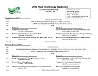 2017 Fluid Technology Workshop Agenda