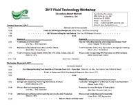 2017 Fluid Technology Workshop Agenda
