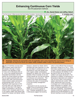 Enhancing Continuous Corn Yields