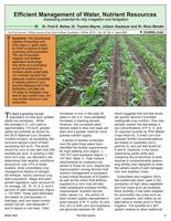 Efficient Management of Water, Nutrient Resources