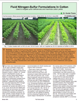 Fluid Nitrogen-Sulfur Formulations In Cotton