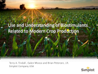 Use and Understanding of Biostimulants Related to Modern Crop Production