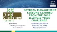 SOYBEAN MANAGEMENT LESSONS LEARNED