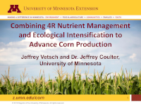 Combining 4R Nutrient Management and Ecological Intensification to