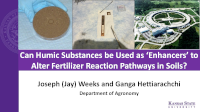 Can Humic Substances be Used as 'Enhancers' to Alter Fertilizer Reaction Pathways in Soils?