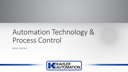 Automation Technology and Process Control – Mark Mohr