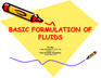 Basic Formulations of Fluids – Jim May