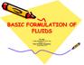 Basic Formulations of Fluids – Jim May