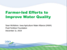 Farmer-led Efforts to Improve Water Quality -Sean McMahon