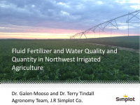 Fluid Fertilizer and Water Quality and Quantity in Northwest Irrigated Agriculture – Mooso and Tindall